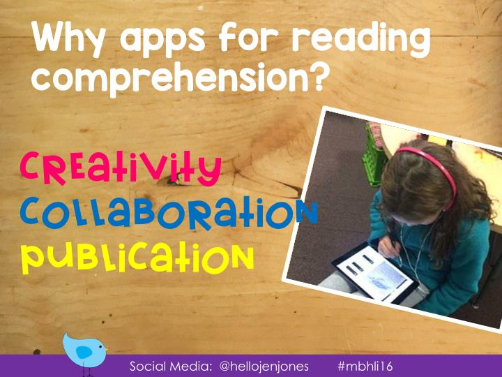 Why apps for reading comprehension