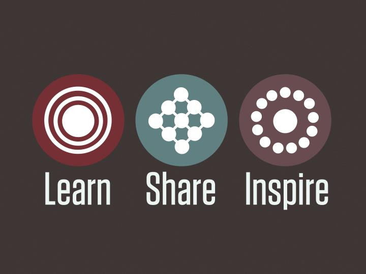Learn      Share     Inspire
