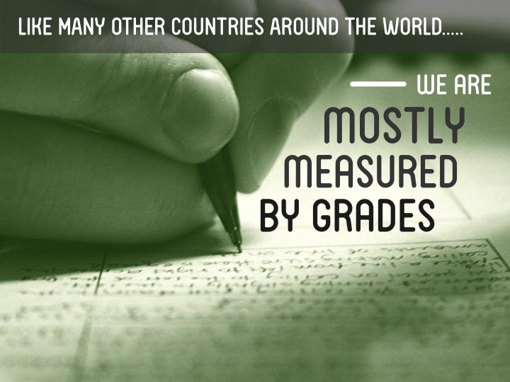LIKE MANY OTHER COUNTRIES AROUND THE WORLD.....