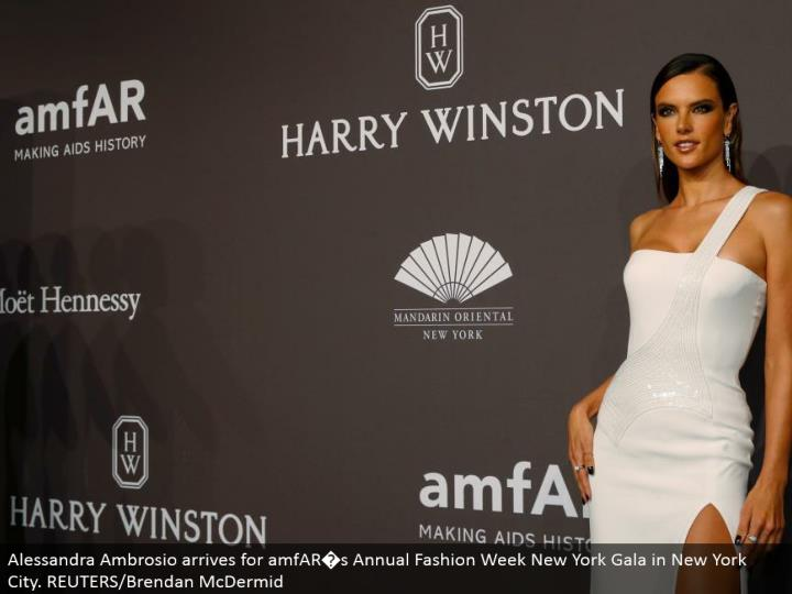 Alessandra ambrosio touches base for amfar