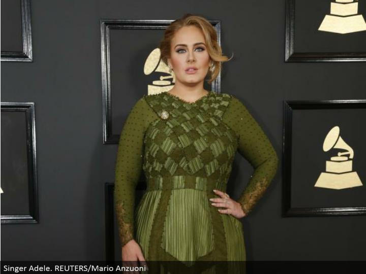 Singer Adele. REUTERS/Mario Anzuoni