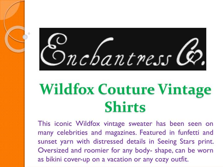 Wildfox couture vintage shirts