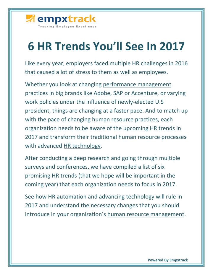 Hr trends you ll see in