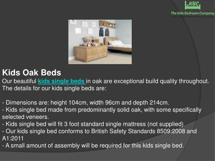 Kids Oak Beds