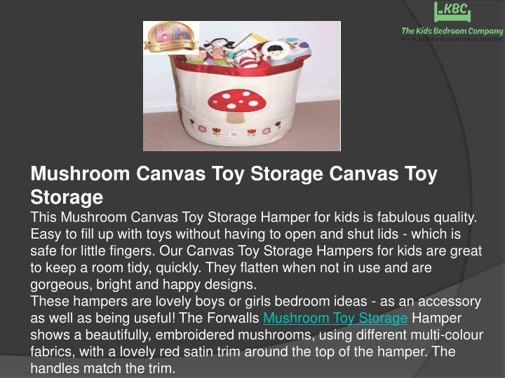 Mushroom Canvas Toy Storage Canvas Toy Storage