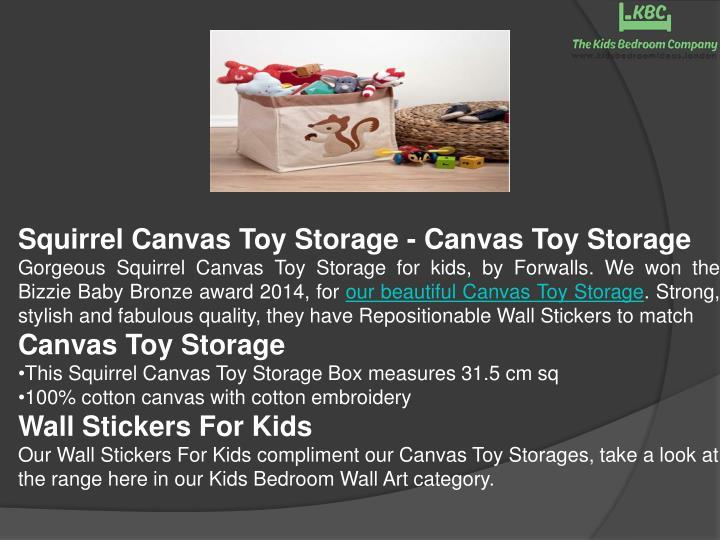 Squirrel Canvas Toy Storage - Canvas Toy Storage
