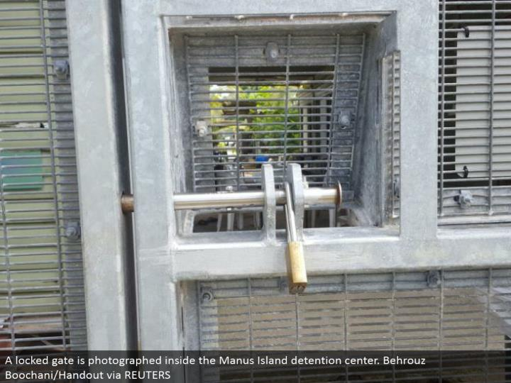 A catapulted gateway is shot inside the Manus Island restriction center. Behrouz Boochani/Handout through REUTERS