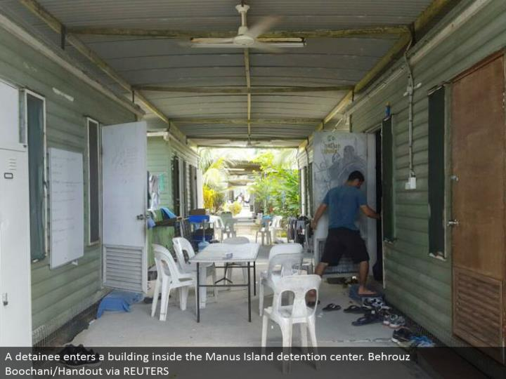 A detainee enters a working inside the Manus Island imprisonment center. Behrouz Boochani/Handout by method for REUTERS