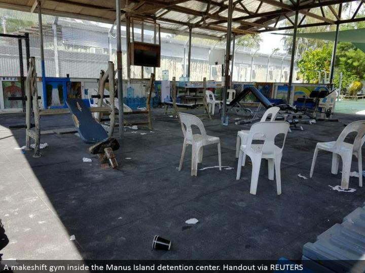A stopgap rec focus inside the manus island