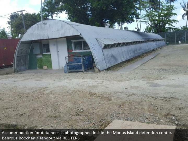 Accommodation for detainees is caught inside the Manus Island constrainment center. Behrouz Boochani/Handout through REUTERS