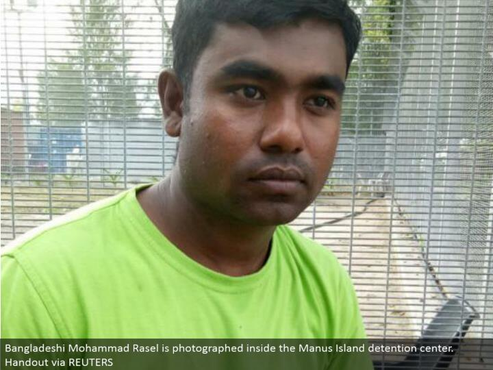 Bangladeshi Mohammad Rasel is caught inside the Manus Island confinement center. Freebee by method for REUTERS