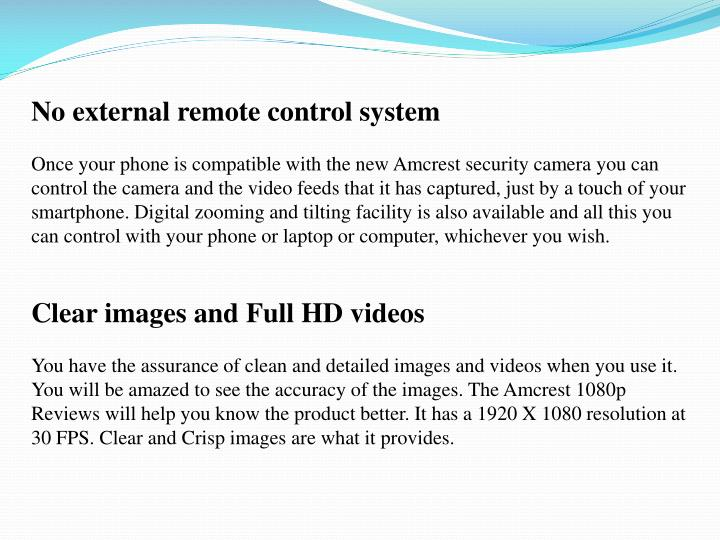 No external remote control system
