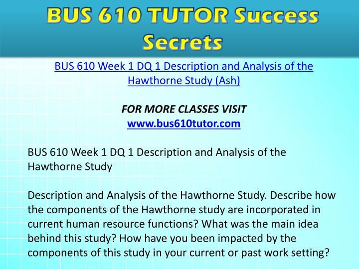 Bus 610 week 1