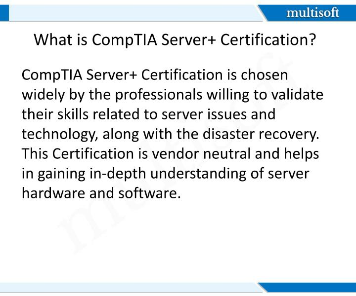 What is comptia server certification