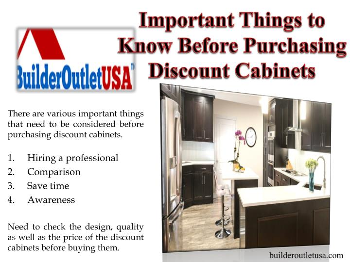Important Things to Know Before Purchasing Discount Cabinets
