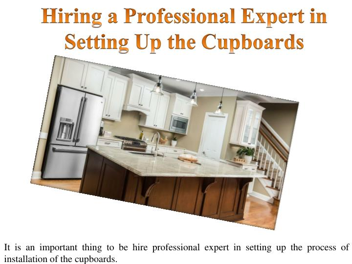 Hiring a professional expert in setting