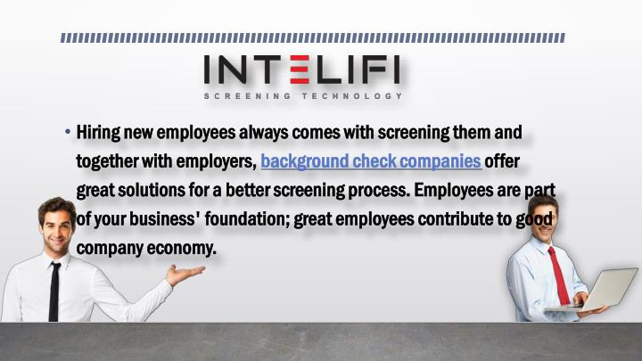 Hiring new employees always comes with screening them and together with employers,