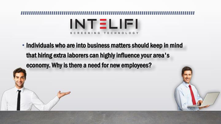 Individuals who are into business matters should