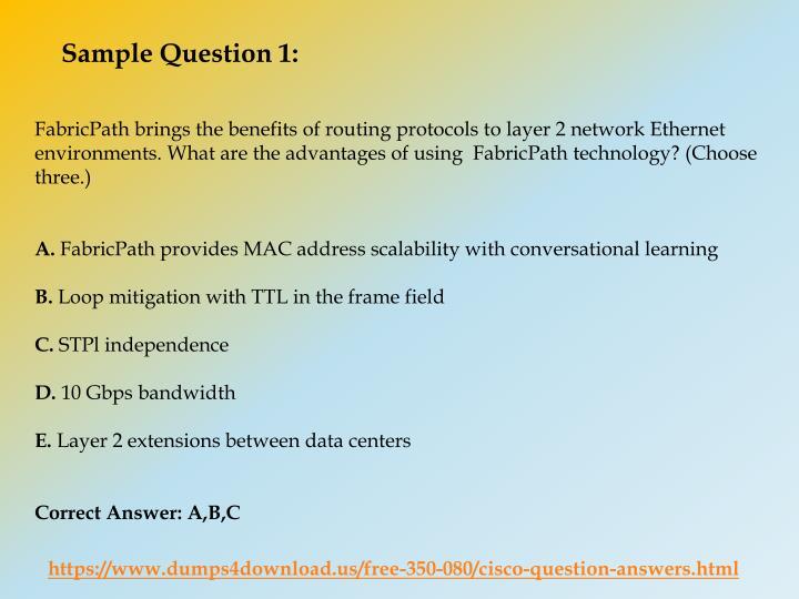Cisco Samples Exam Questions