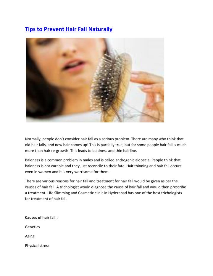 Prevent Hair Fall Naturally