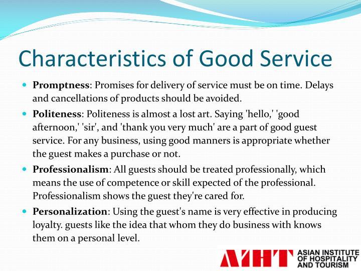 four characteristics of a good essay
