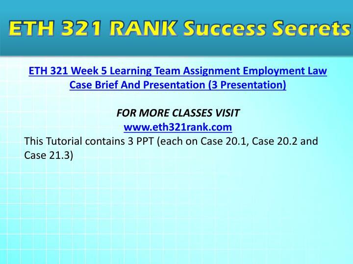 Eth 321 learning team c wk
