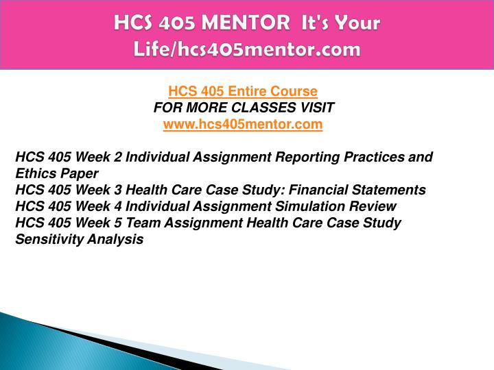 hcs 405 powerpoint sensitivity analysis Purchase here    health care case study sensitivity analysis  • create an 8- to 10-slide microsoft® powerpoint.