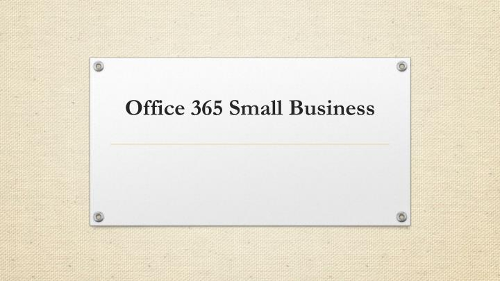 Office 365 Small Business
