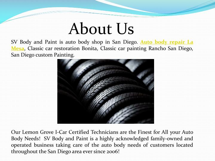 Ppt best auto body and paint in san diego powerpoint for Us motors san diego