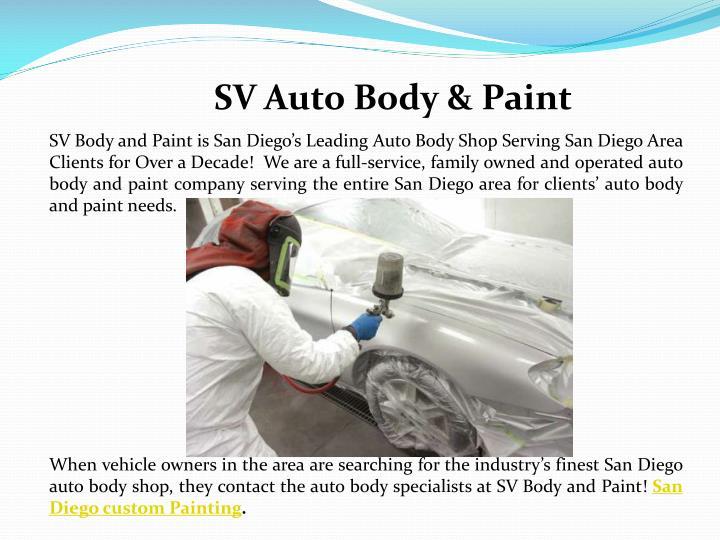 Best Auto Painting San Diego