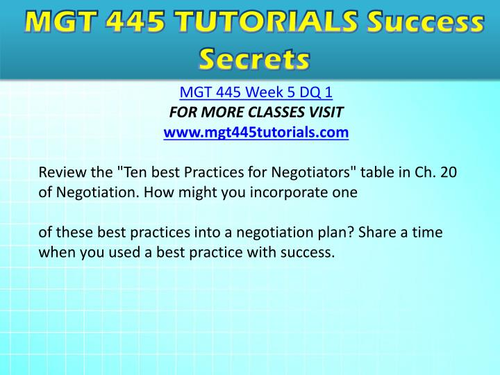 MGT 445 ASH Tutorial / mgt445dotcom Essay