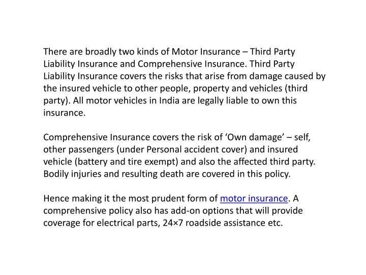Ppt motor insurance tips for car and bike owners for Third party motor vehicle