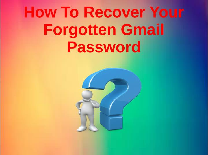 recover forgotten gmail password