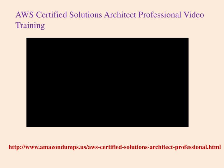 ppt passing the aws certified solutions architect