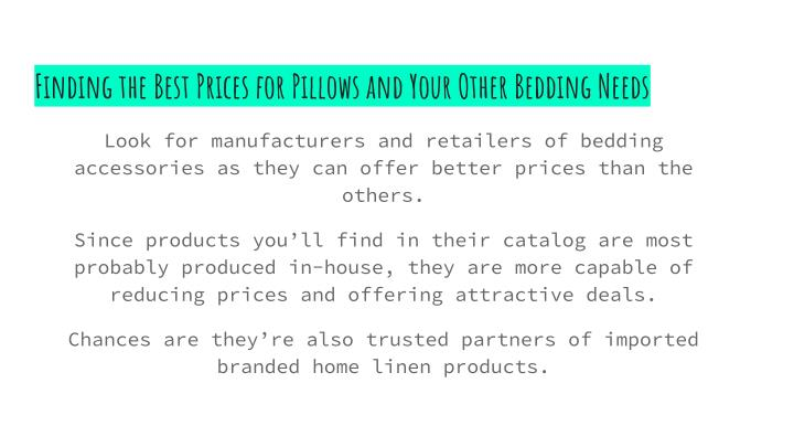 Finding the Best Prices for Pillows and Your Other Bedding Needs
