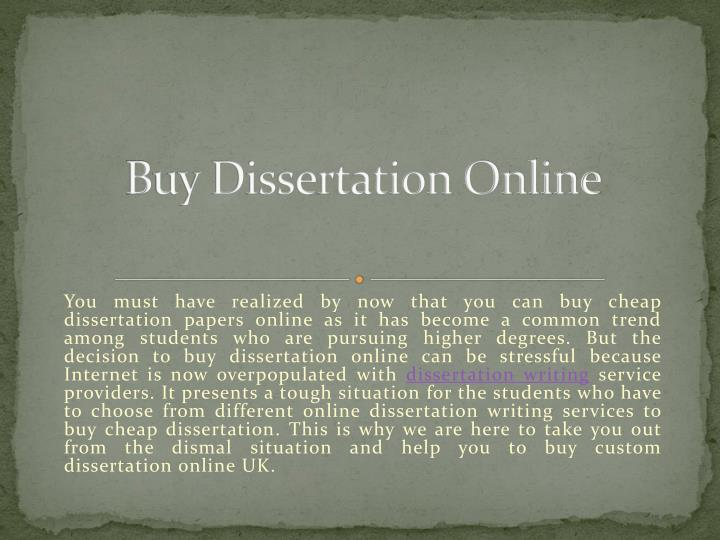 Buy a dissertation online education