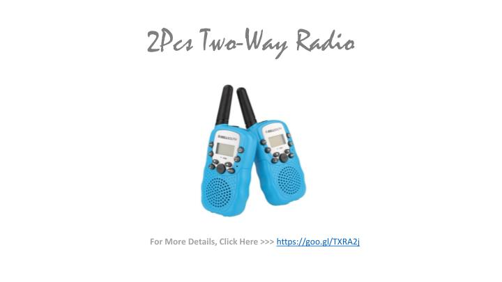 2Pcs Two-Way Radio