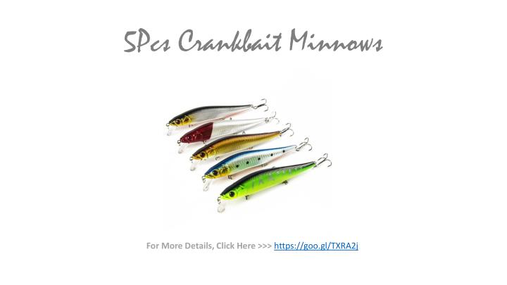 5Pcs Crankbait Minnows