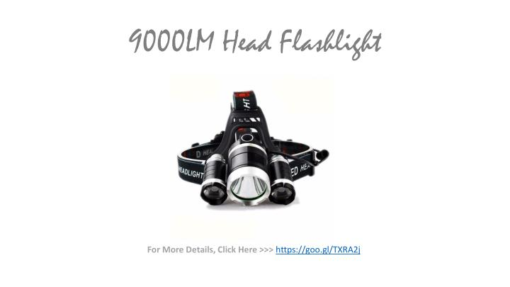 9000LM Head Flashlight