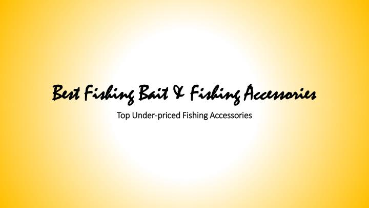 Best fishing bait fishing accessories