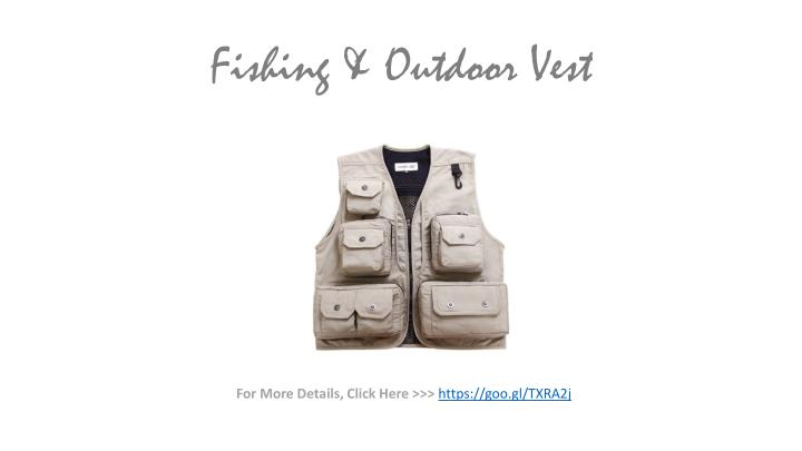 Fishing & Outdoor Vest