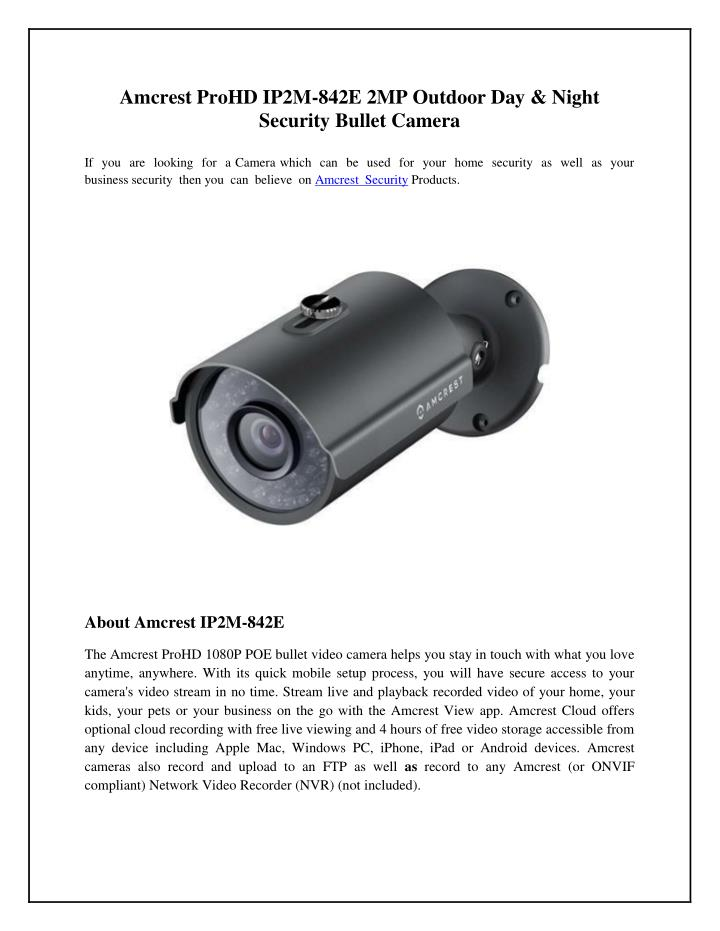 Amcrest ProHD IP2M-842E 2MP Outdoor Day & Night