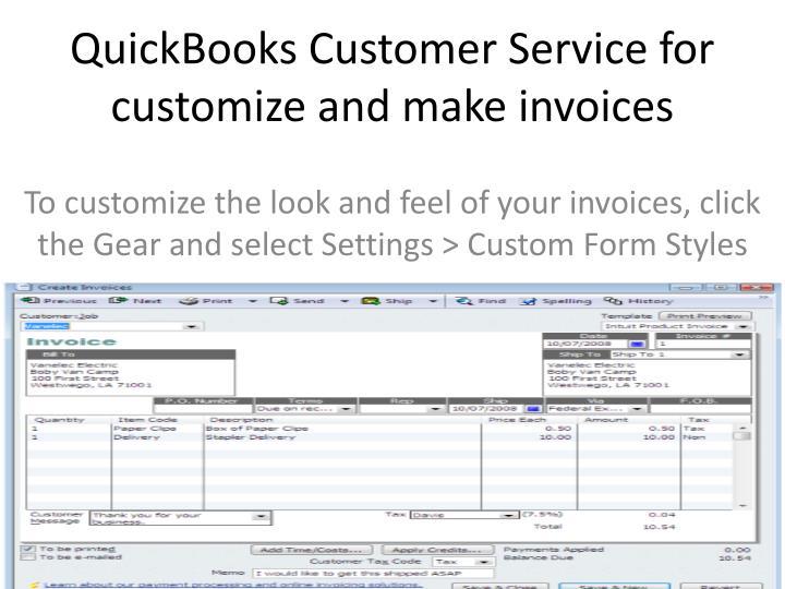 custom service invoices