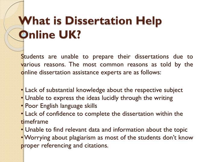 Dissertation help service my