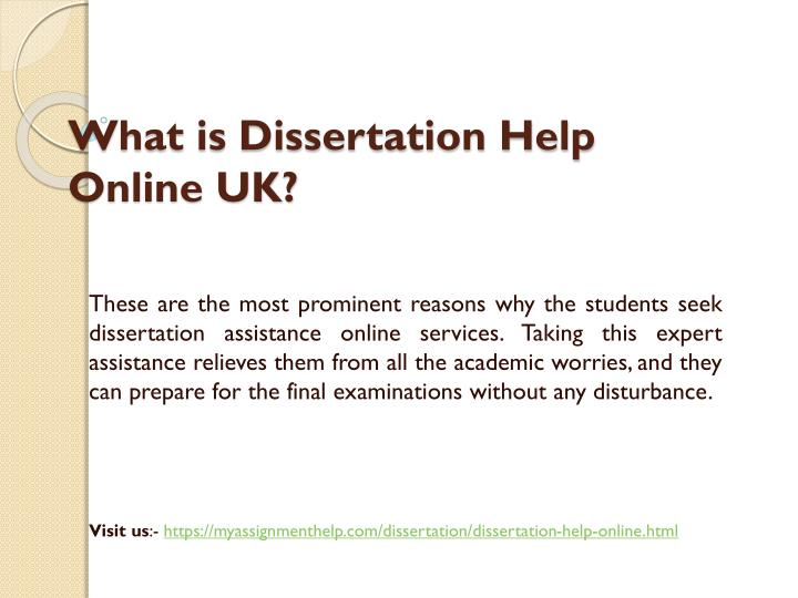 Dissertation assignment services help