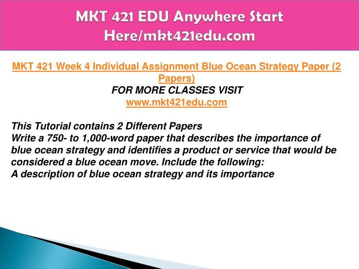 mkt 421 wk 4 blue ocean