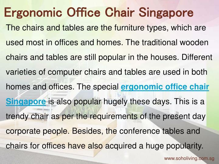 Ergonomic Office Chair Singapore