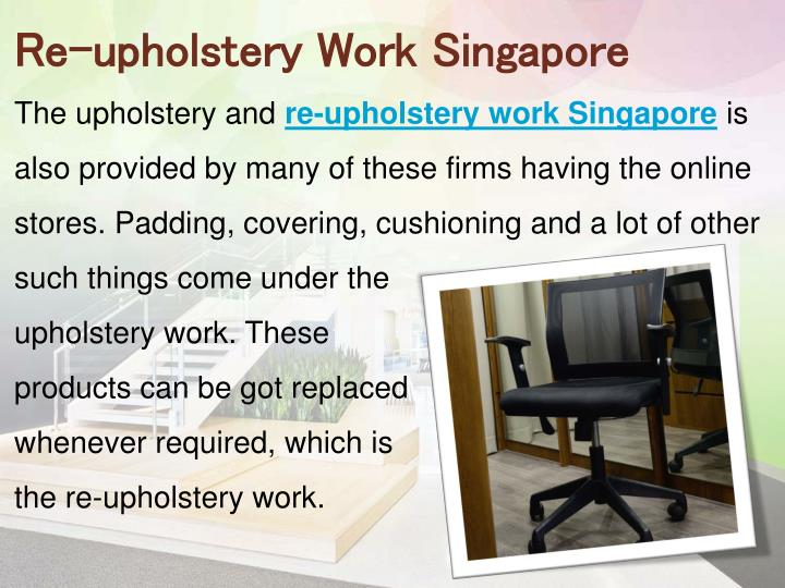 Re-upholstery Work Singapore
