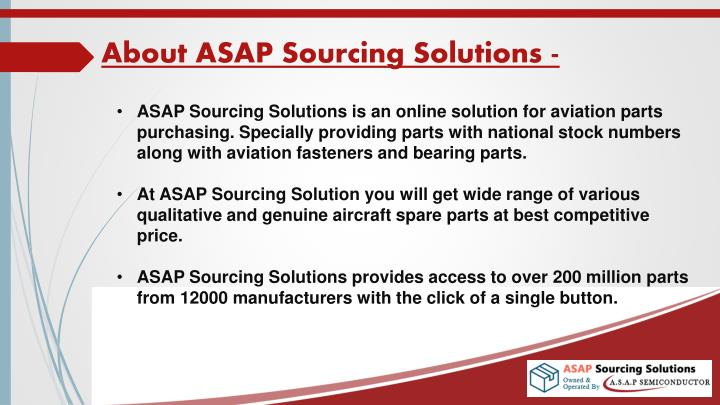 About asap sourcing solutions