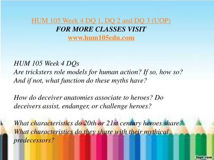 Hum 150 week 3 dq 4